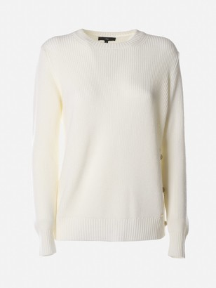 Fay Crewneck Sweater With Side Buttons