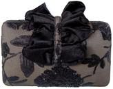 Simitri Black Floral Lace Clutch