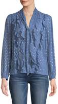 Rebecca Taylor Women's Embellished Ruffle Top
