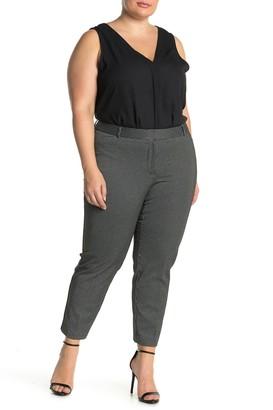 Amanda & Chelsea Pinstripe Comfort Waist Ponte Pants (Plus Size)