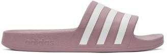 adidas Purple Adilette Aqua Slides