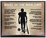 "Steiner Sports Man Cave Rules 8 x 10"" Plaque"