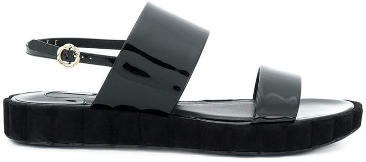 Salvatore Ferragamo sling back double-strap sandals