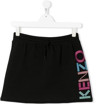 Kenzo TEEN logo print skirt