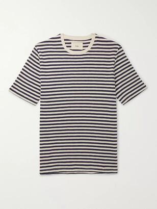 Folk Striped Slub Cotton-Jersey T-Shirt