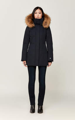 Soia & Kyo AYLEEN slim-fit classic down coat with removable fur