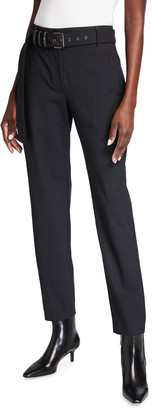 Brunello Cucinelli Tropical Wool Pants with Monili Belt Loops