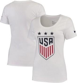 Nike Women's White US Women's National Soccer Team Crest T-Shirt