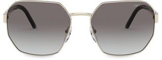 Prada 59MM Irregular Square Sunglasses