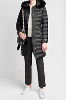 Burberry Down Coat with Fur-Trimmed Hood