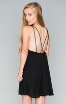 MUMU Criss Cross Applesauce Mini Dress ~ Black Crisp