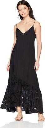 Vix Women's Black Elma Long Dress Small