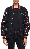 Opening Ceremony Embroidered Varsity Jacket, Black