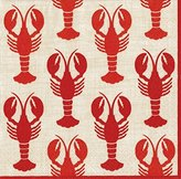 Caspari Lobsters Paper Cocktail Napkins, Pack of 20