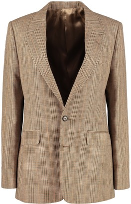 Celine Prince Of Wales Checked Jacket
