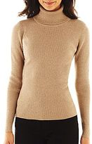 Liz Claiborne Ribbed Turtleneck Sweater