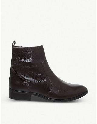 Office Ashleigh leather flat ankle boots