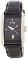 HUGO BOSS Men's HB1008 Croc Embossed Leather Strap Watch