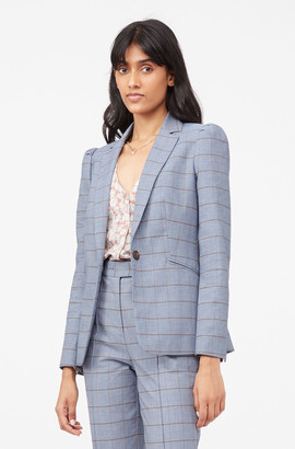 Rebecca Taylor Tailored Windowpane Twill Jacket