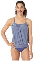 Speedo Blouson Tankini (Blue Smoke) Women's Swimwear