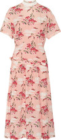 Mother of Pearl Twilla Printed Silk-Georgette Midi Dress