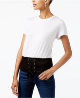 INC International Concepts Colorblocked Corset T-Shirt, Created for Macy's
