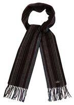 Jeff Banks Grey Woven Stripe Scarf