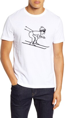 French Connection Skier Embroidered T-Shirt