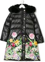 Love Made Love floral print padded coat