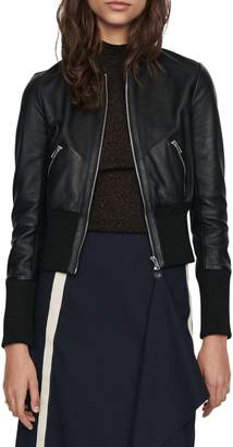 Maje Blotine Leather Jacket
