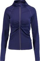Yummie by Heather Thomson Vera Croc Effect-Trimmed Stretch-Jersey Jacket
