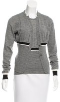 Jil Sander Virgin Wool Colorblock Cardigan Set