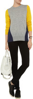 Iris & Ink Tri-tone color-block cashmere sweater