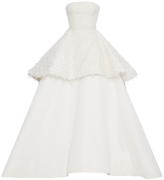 Elizabeth Kennedy M'O Exclusive Strapless Tiered Gown