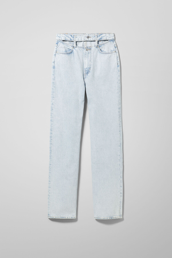 Thumbnail for your product : Weekday Ewer Denim Trousers Cold Blue - Blue