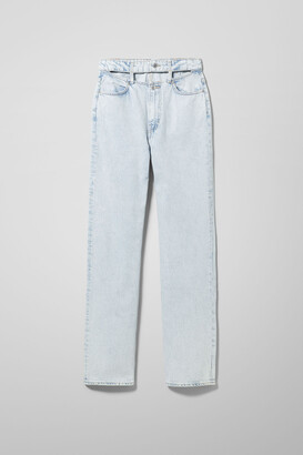 Weekday Ewer Denim Trousers Cold Blue - Blue