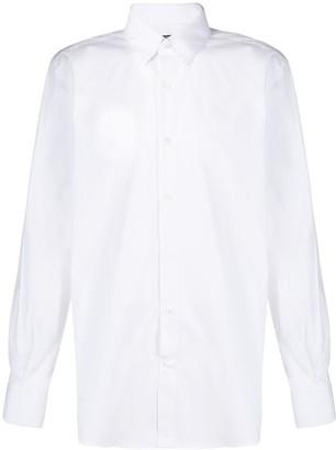Balmain tailored embroidered logo shirt
