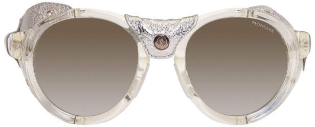 Moncler Transparent and Silver ML0046 Sunglasses