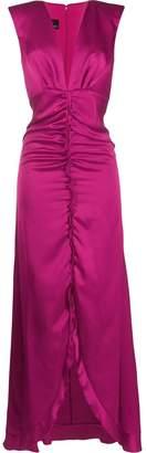 Pinko plunge neck gown