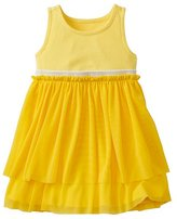 Toddler Swish Sparkle Dress With Tulle Tiers