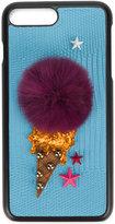 Dolce & Gabbana ice cream iPhone 7 Plus case - women - Polyurethane/Viscose/Rabbit Fur/Polyester - One Size