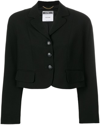 Moschino Pre-Owned Cropped Single-Breasted Jacket