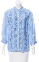 Yigal Azrouel Silk Pleat-Accented Top