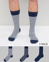 Polo Ralph Lauren 3 Pack Cotton Stripe Socks