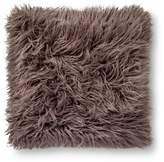 """Xhilaration Gray Mongolian Faux Fur Throw Pillow 18""""x18"""""""