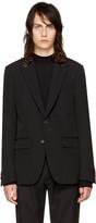 Givenchy Black Studded Lapel Blazer