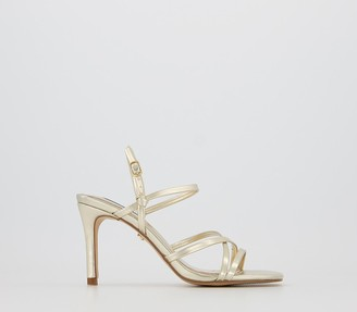 Office Missy Strappy Sandals Gold