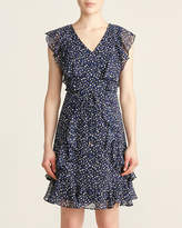 Tommy Hilfiger Black & Marina Blue Leaf Dress