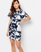 Keepsake Fluted Sleeve Printed Dress