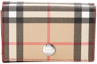 Burberry Lark Vintage Check & Leather Continental Wallet